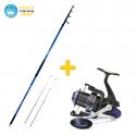 Combo kit canna e mulinello per pescare a beach ledgering