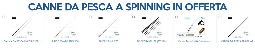 canne da pesca a spinning in offerta