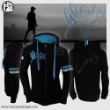 Felpa Uomo con zip Go Fishing Hotspot Design