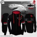 Felpa con zip Shark Zone Hotspot Design