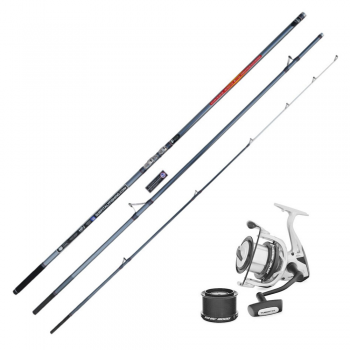 Kit combo rod and reel for surfcasting fishing shore angling