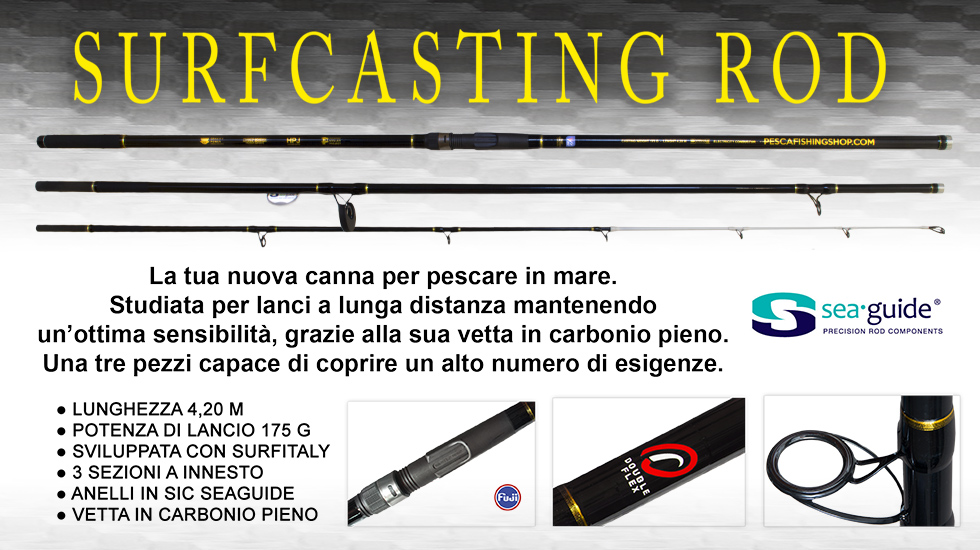 Surfcasting rod
